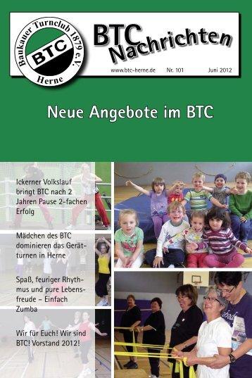 BTC Nachrichten Nr. 101 - Juni 2012 - Baukauer Turnclub in Herne