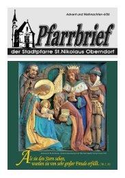 Pfarrbrief 2006 - 04: Advent Weihnachten - Pfarre Oberndorf an der ...
