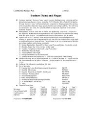 Sample Business Plan (PDF - Truckee Meadows Community College