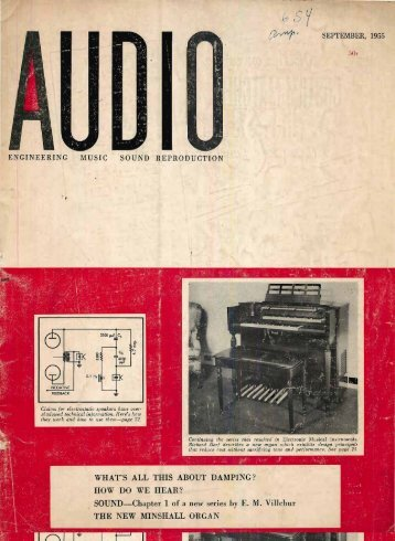 Audio Magazine September 1955 - Vintage Vacuum Audio