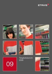 Tätigkeitsbericht 2009 - Etavis