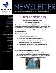 HAPPY MOTHER'S DAY - Autism Queensland