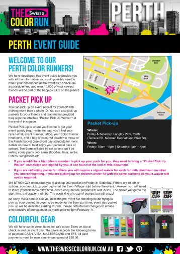Download Your Perth Pre-Race Docs Here! - The Color Run