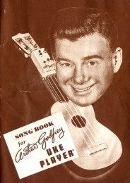 Arthur Godfrey Uke Player booklet - 2nd edition - chordmaster.org