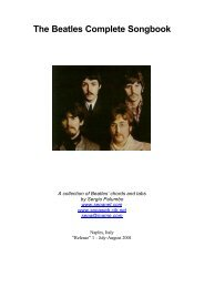 The Beatles Complete Songbook - Sewanee: The University of the ...