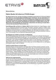 Medienmitteilung Elektro Beutler AG, deutsch (PDF, 37 kb - Etavis