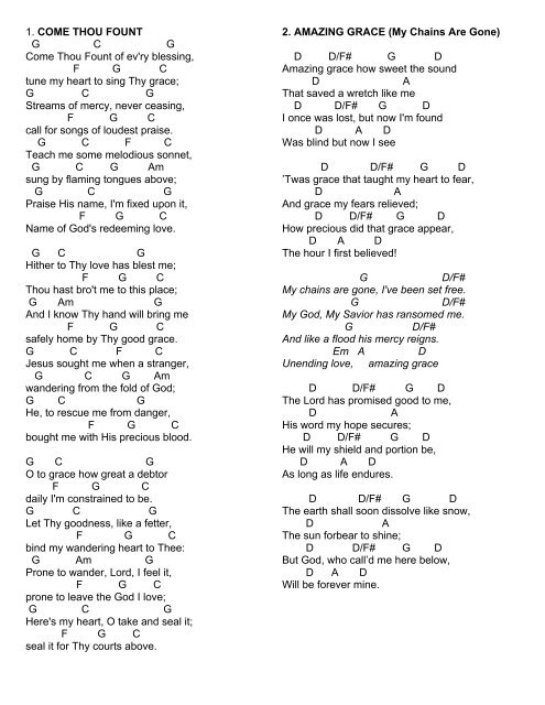 Homegroup Songs Chords