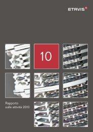 Rapporto sulle attività 2010 - Etavis