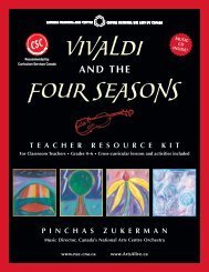 Vivaldi and the Four Seasons Teacher Resource Kit - ArtsAlive.ca