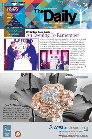 Day 4 (26 August 2012) - India International Jewellery Show (IIJS)