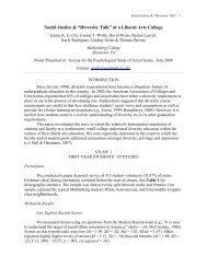 """Social Justice & """"Diversity Talk"""" - Muhlenberg College"""