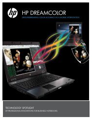 HP DREAMCOLOR GROUNDBREAKING COLOR ACCURACY IN A ...