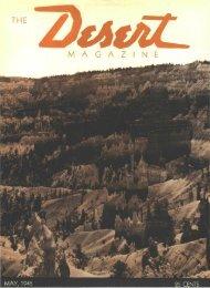 THE M A G A Z I N E yi - Desert Magazine of the Southwest