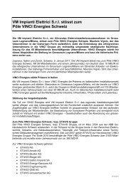 VM Impianti Elettrici S.r.l. stösst zum Pôle VINCI Energies ... - Etavis