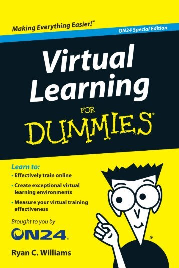 Virtual Learning For Dummies, ON24 Special Edition