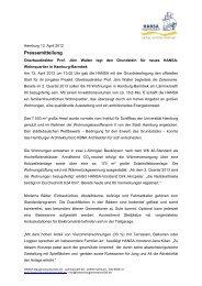 Pressemitteilung - Hamburger Wohnungsbaugenossenschaften
