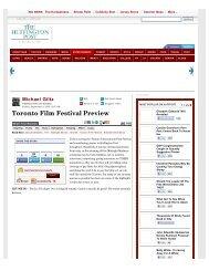 Michael Giltz: Toronto Film Festival Preview