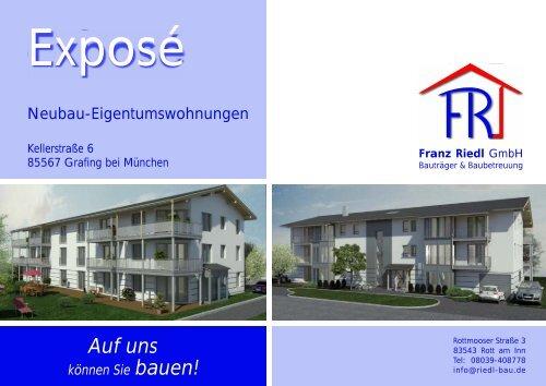 Exposé für Kellerstraße 6 - Grafing - Riedl-Bau GmbH, Rott am Inn ...