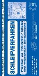 SCHLEIFVERFAHREN -P - Deutsches Industrieforum für Technologie