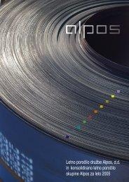 Letno poročilo 2005 - Alpos