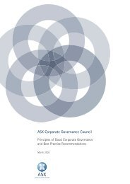 ASX Corporate Governance Council - National Foundation for ...