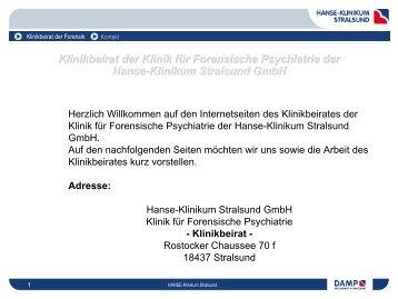 Klinikbeirat der Klinik für Forensische Psychiatrie der r Forensische ...