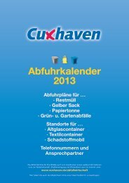 Abfuhrkalender 2013 - Stadt Cuxhaven