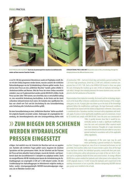 Hydraulikpresse 2 | 2011 - Hansa Flex