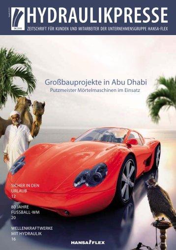 Großbauprojekte in Abu Dhabi - Hansa Flex