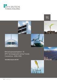 Beteiligungsangebot 91 DFH Vermögensstrukturfonds Concentio ...