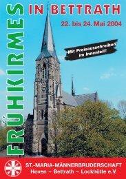 Festheft 2004 Frühkirmes - St. Maria Männerbruderschaft Hoven ...