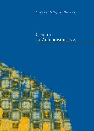 CODICE DI AUTODISCIPLINA - Ethos