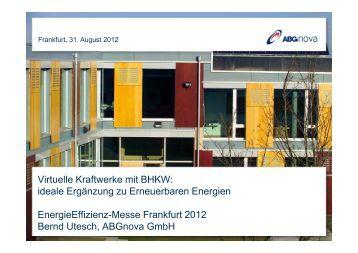 Virtuelle Kraftwerke mit BHKW - Energieeffizienz-Messe Frankfurt