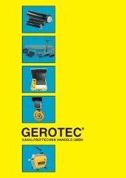 kanalprüftechnik handels gmbh - GEROTEC Kanalprüftechnik