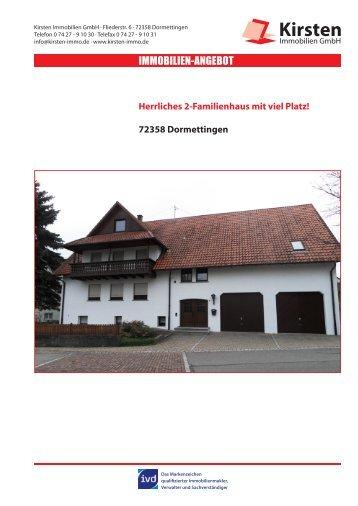 IMMOBILIEN-ANGEBOT - Kirsten Immobilien GmbH