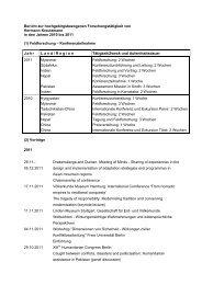 Bericht zur hochgebirgsbezogenen Forschungstätigkeit von