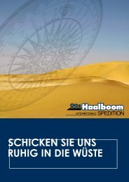 Afrika-Broschüre - Otto Haalboom Internationale Spedition