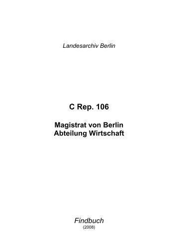 C Rep. 106 - Landesarchiv Berlin