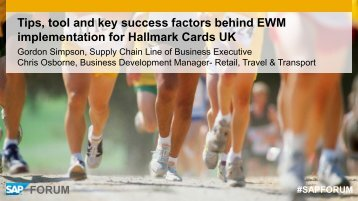 Tips, tool and key success factors behind EWM implementation for ...
