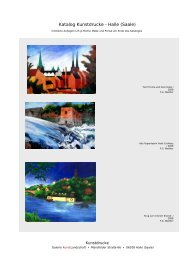 Katalog Kunstdrucke - Halle (Saale) - GalerieVerlag Mitteldeutschland