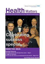 Issue 23 - Blackpool, Fylde and Wyre Hospitals NHS Foundation Trust