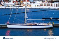 Hallberg-Rassy 64 colour brochure, winter photos edition