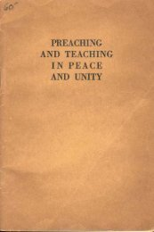1960 Preaching and Teaching in Peace and Unity - A2Z.org