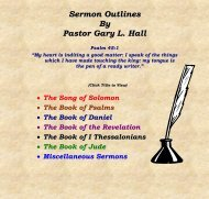 Sermon outline and notes prepared by - Swift Creek Baptist