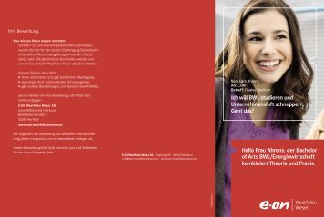 Flyer Bachelor of Arts - E.ON Westfalen Weser