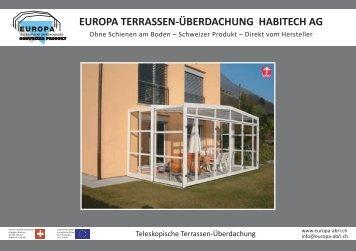 EUROPA TERRASSEN-ÜBERDACHUNG ... - Abri de piscine