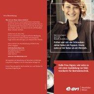 Flyer Elektroniker (PDF, 425 KB) - E.ON Westfalen Weser