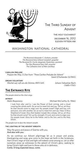 Service leaflet - Washington National Cathedral