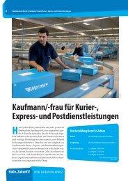 Kaufmann/-frau für Kurier-, Express- und Postdienstleistungen