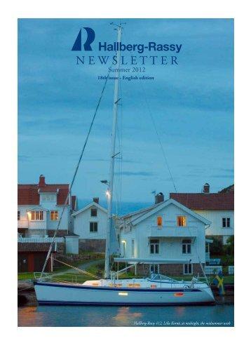 New! Hallberg-Rassy NewsLetter 2012, English
